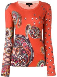 Etro Paisley Print Jumper Red
