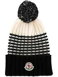 Moncler Pom Pom Beanie Nude And Neutrals