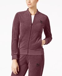 Puma T7 Velour Track Jacket Red