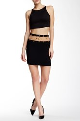 Versus By Versace Mesh Mini Skirt Black