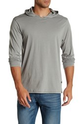 Tavik Shadow Long Sleeve Hooded Pullover Gray