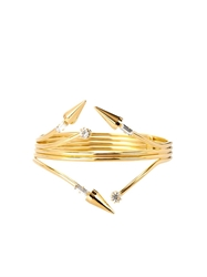 Vickisarge Fallen Angel Crystal Gold Plated Cuff