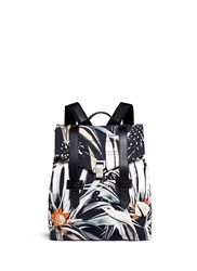 Proenza Schouler 'Ps1' Floral Print Nylon Backpack Multi Colour
