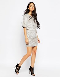 Motel Fringe Skirt Grey