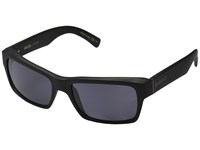 Von Zipper Fulton Polarized Black Smoke Satin Vintage Grey Wildlife Polarized Lens Sport Sunglasses