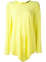 Proenza Schouler Handkerchief Hem Blouse Yellow And Orange