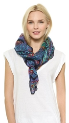 Theodora And Callum Kerala Scarf Blue Multi