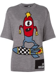 Love Moschino Rocket Surf T Shirt Grey