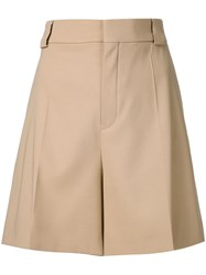 Chloa Tailored Shorts Nude And Neutrals
