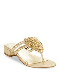 Adrianna Papell Delta Thong Sandals Gold