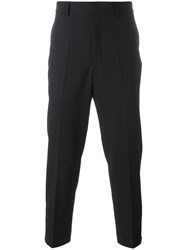 Mcq By Alexander Mcqueen Cropped Tailored Trousers Black
