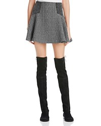 Alice Olivia Alice And Olivia Elsie Cable Knit Flare Skirt Charcoal