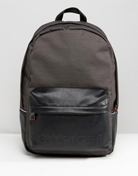 Tommy Hilfiger Logo Backpack In Black Black