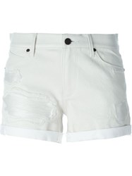 Rta Distressed Shorts White