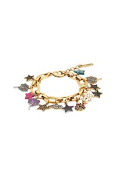 Marc Jacobs Embellished Charm Bracelet Gold