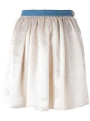 Sonia Rykiel Elasticated Waistband Short Skirt Nude Neutrals