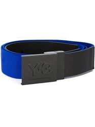 Y 3 Flat Buckle Belt Blue