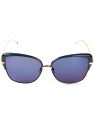 Thom Browne Oversized Cat Eye Sunglasses Metallic