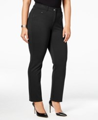 Styleandco. Style Co. Plus Size Slim Leg Pants Only At Macy's Deep Black