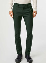 Topman Dark Green Ultra Skinny Fit Suit Trousers