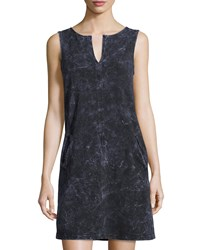 Three Dots Luxe French Terry A Line Dress Galvanized Wash
