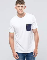 Lyle And Scott T Shirt With Square Dot Pocket In White White