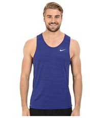 Nike Dri Fit Cool Miler Singlet Deep Royal Blue Obsidian Reflective Silver Men's Sleeveless