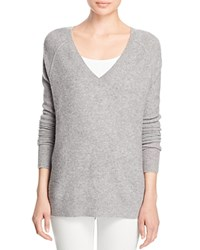 J Brand Bache Wool Cashmere V Neck Sweater Medium Grey
