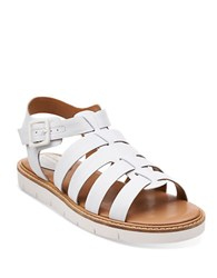 Clarks Lydie Kona Leather Open Toe Sandals White