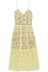 Self Portrait Azaelea Guipure Lace Dress Pastel Yellow
