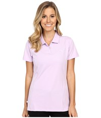 Puma Pounce Polo Orchid Bloom Women's Short Sleeve Pullover Pink