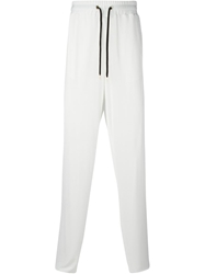 Versace Loose Fit Track Pants White