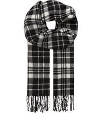 Sandro Wool And Cashmere Scarf Black