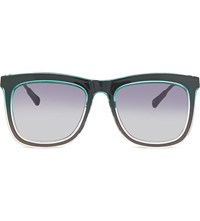 Kris Van Assche Kva80 D Frame Sunglasses Green And Clear