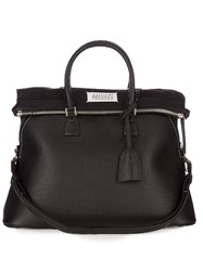 Maison Martin Margiela 5Ac Grained Leather Tote Bag Black