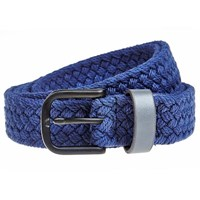 Men In Cities Two Tone Woven Cotton Belt Blue