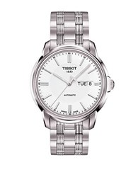 Tissot Mens Automatic Iii Classic White Automatic Watch Silver