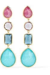 Ippolita Rock Candy 18 Karat Gold Multi Stone Earrings Blue