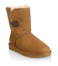 Ugg Australia Short Suede Boot With Button Unisex