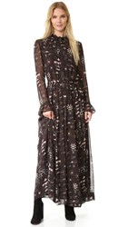Antik Batik Chain Long Dress Faded Black