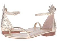 Lilly Pulitzer Laura Sandal Gold Metal Women's Toe Open Shoes