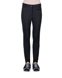Fendi Seamed Stretch Fabric Stirrup Pants Black