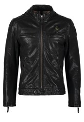 Blauer Leather Jacket Nero Black