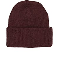 Ca4la Men's Rib Knit Alpaca Blend Beanie Burgundy