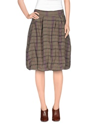 Noa Noa Knee Length Skirts Khaki