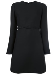 Valentino Bow Detailed Crepe Couture Dress Black