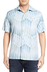 Men's Tommy Bahama 'Chabis Chevron' Original Fit Silk And Cotton Camp Shirt