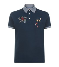 La Martina Pique Polo Shirt Male Navy