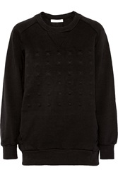 Balmain Cotton Jersey Sweatshirt Black