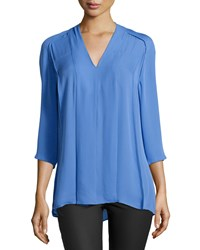Halston Heritage Pleated Front Tunic Sky Blue